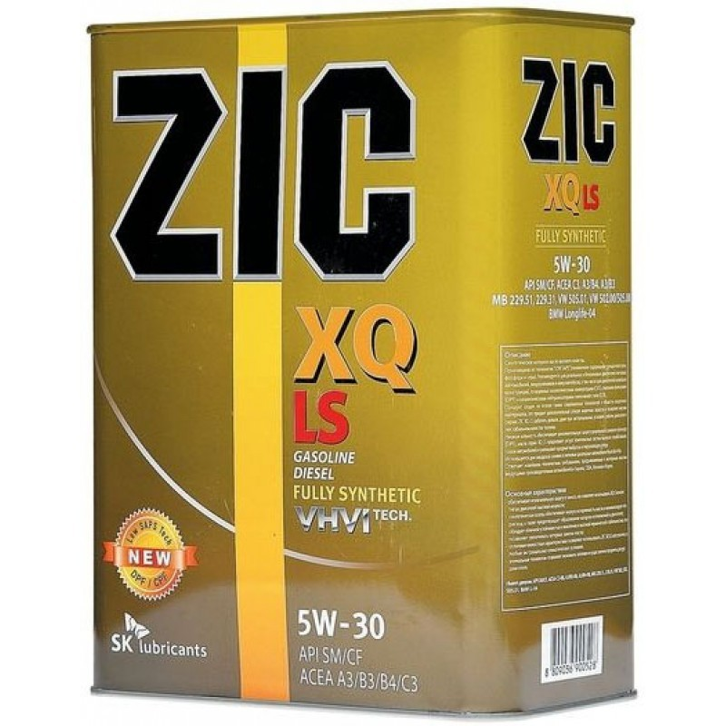 Изображение для ZIC XQ LS 5W30 4л
