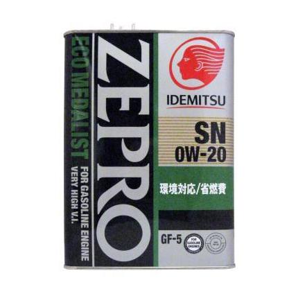 Изображение для ID ZEPRO ECO MEDALIST SN/GF5 0W20 / Масло моторное синтетическое (4л)