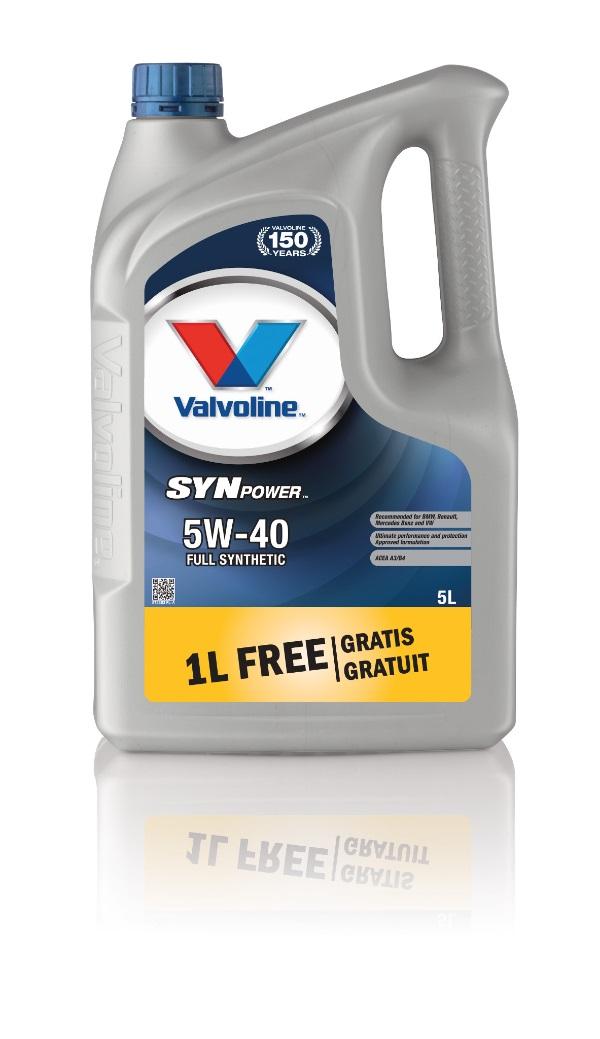 Изображение для Масло моторное Valvoline Synpower 5W40 SW 1 LFG 5L