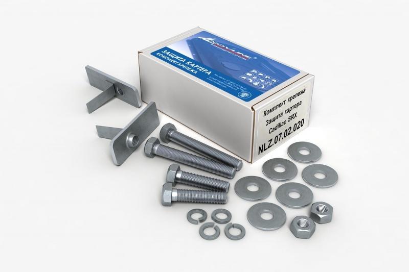 Комплект: защита картера и крепеж Novline-Autofamily Cadillac SRX 2010: 3,0/2,8 бензин АКПП - фото 8
