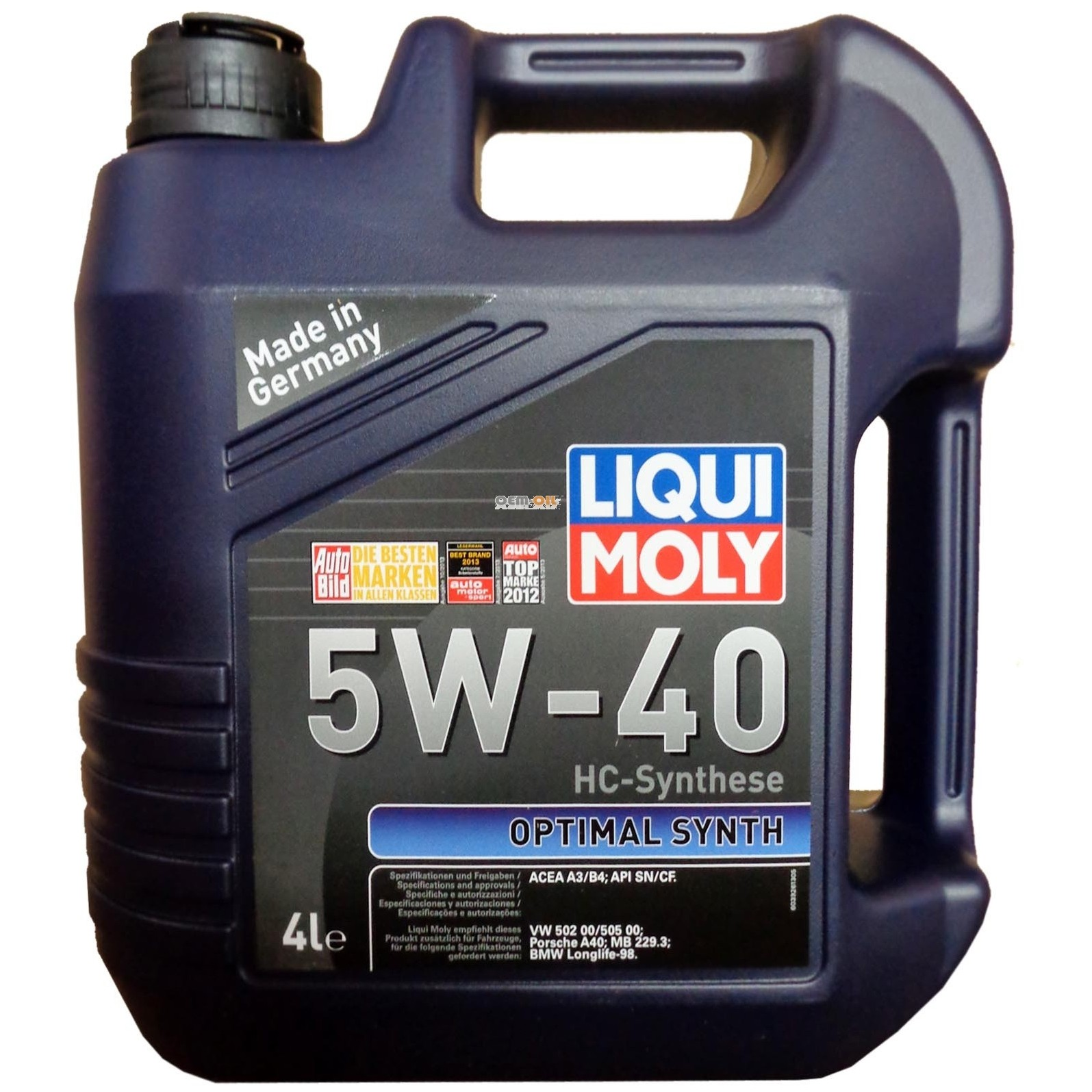 Изображение для LIQUI MOLY LM 2293 Optimal Synth 5W-40 5л
