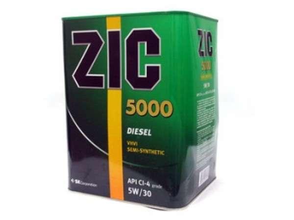 Изображение для Масло ZIC 5000 5w30  4л CI-4 Diesel